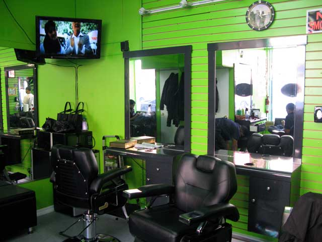 barbing salon with equipment in Nigeria