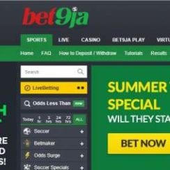 homepage of bet9ja