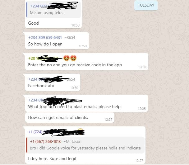 Yahoo Whatsapp group