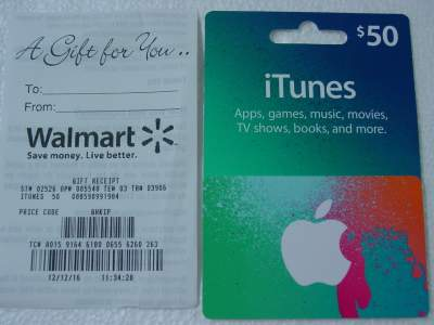 iTunes gift card from Walmart
