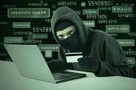 hacker hacking a credit card details online