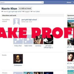 how to make a fake profile blog post image