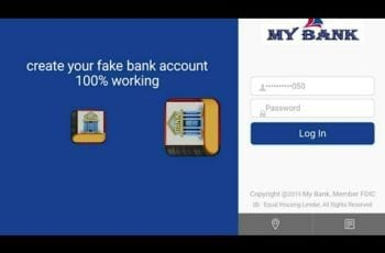 create a fake US bank account