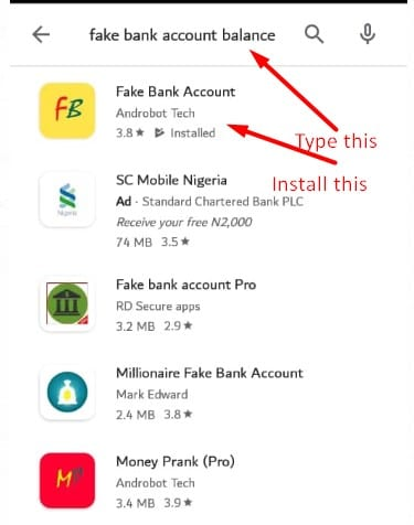 The Best Fake Bank Account App Free Background
