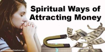how to attract money spiritually
