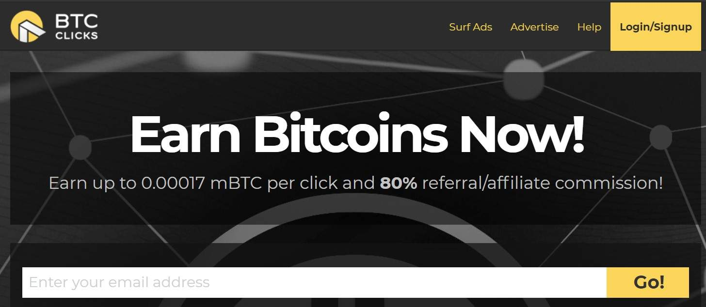 BTC Click Website to get free bitcoin without investment