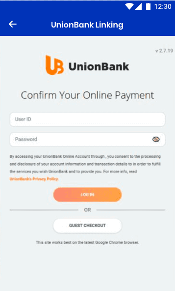 how to cash out bank logs using union bank