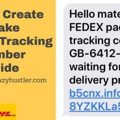 how to create a fake courier tracking number