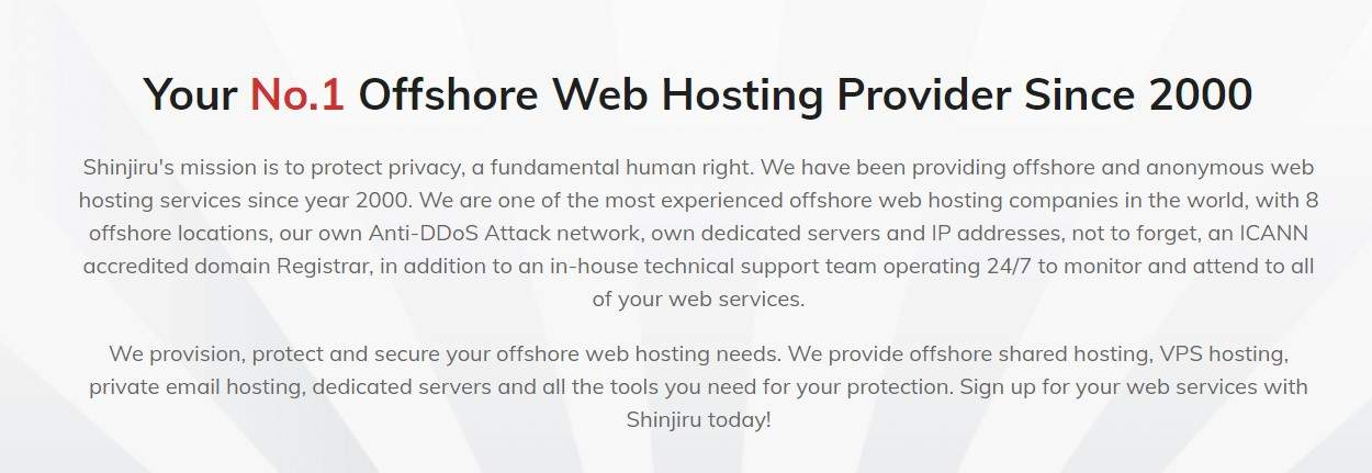 an offshore hosting company that supports fake courier websites