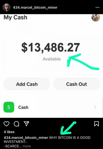 cash evidence to lure clients on Instagram for yahoo