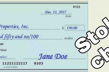 how to cash a stolen check without getting caught