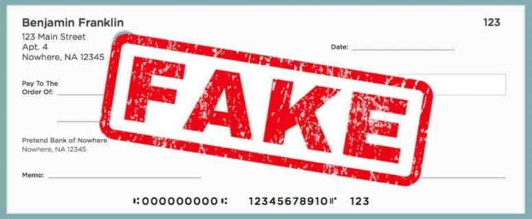 what happens when you cash a fake check without knowing it